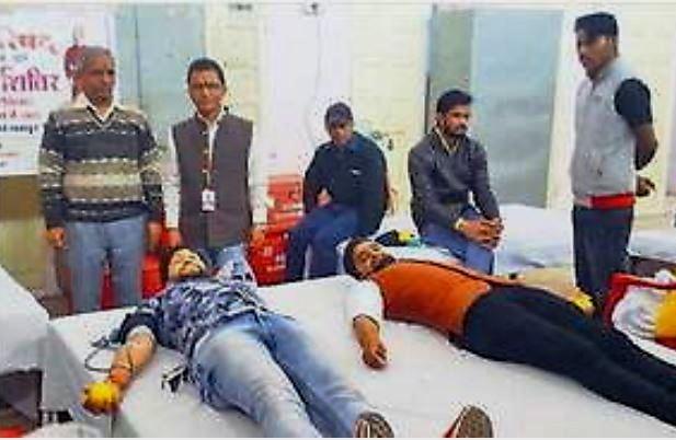 रक्तदान शिविर में 51 यूनिट रक्त एकत्र