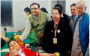 मालवी में लगे शिविर में 92 लोगों ने किया रक्तदान