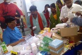 भाविप के सौजन्य से निःशुल्क चिकित्सा शिविर का आयोजन