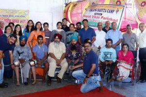 BVP Ludhiana Centre distributes limbs, tricycles
