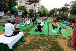 भारत विकास परिषद ने लगया योगा कैंप