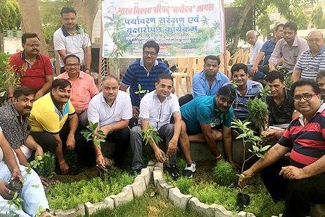 कमलानगर आगरा में किया पौधरोपण