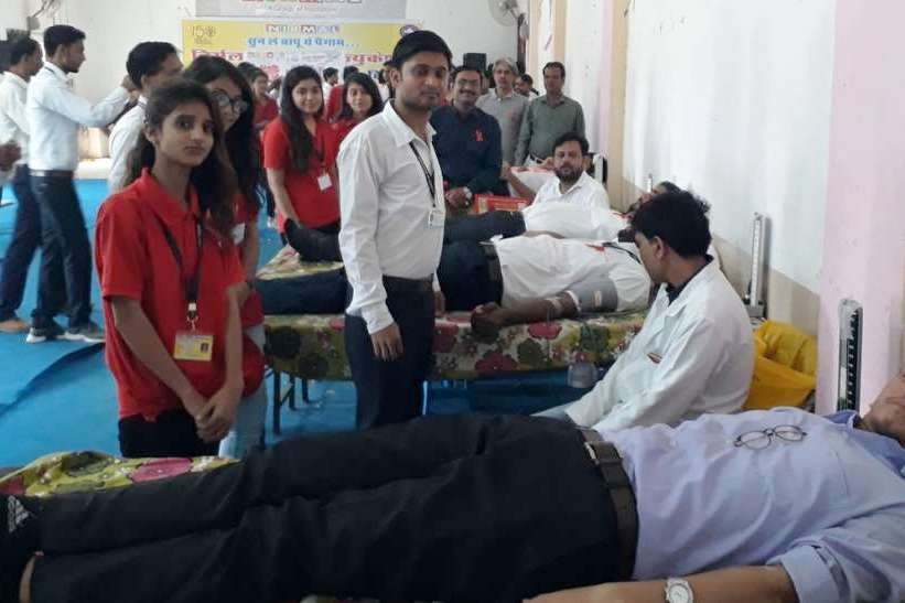 34 वे स्वैच्छिक रक्तदान शिविर में 82 जनों ने किया रक्तदान
