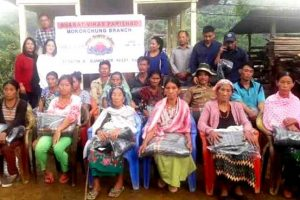 Blankets distributed to elderly of Sumi Settsu village in Zunheboto district
