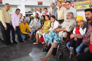 Artificial limbs distributed to 44 differently abled persons