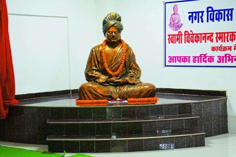 विवेकानंद स्मारक का निर्माण व देखभाल भारत विकास परिषद की ओर से