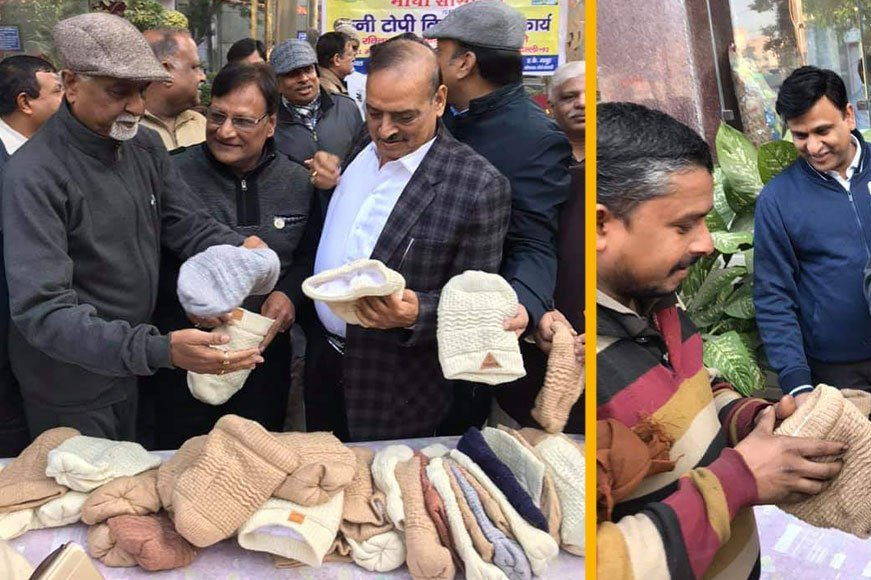 Woolen caps distributed to needy
