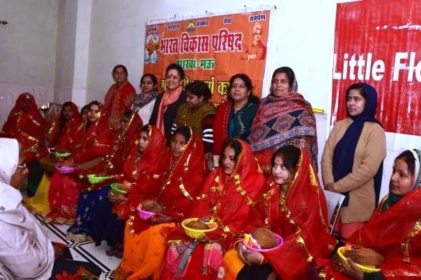 गर्भवती महिलाओं की निश्शुल्क जांच व गोद भराई कार्यक्रम का आयोजन