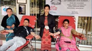 पुलवामा शहीदों की स्मृति में रक्तदान शिविर