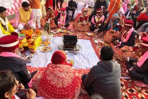 Marriage ceremony of five under privileged couples arranged