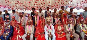 सर्व जातीय सामूहिक विवाह समारोह में 13 जोड़े दांपत्य सूत्र में बंधे