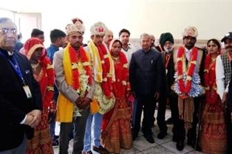 5वें सरल सामूहिक विवाह समारोह में पांच गरीब एवं जरूरतमंद कन्याओं का विवाह रचाया