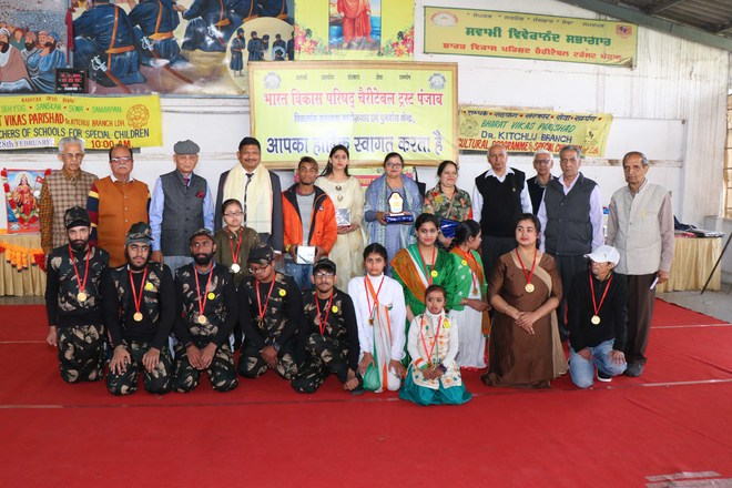 Special children/students from 16 schools presented cultural programme