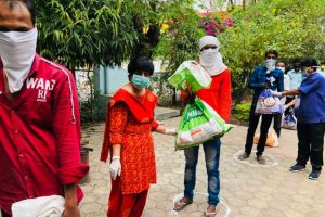 Eatables distributed to needy amid lockdown
