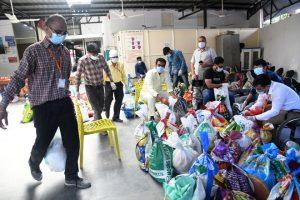 Parishad distributes 3,000 bags to the needy