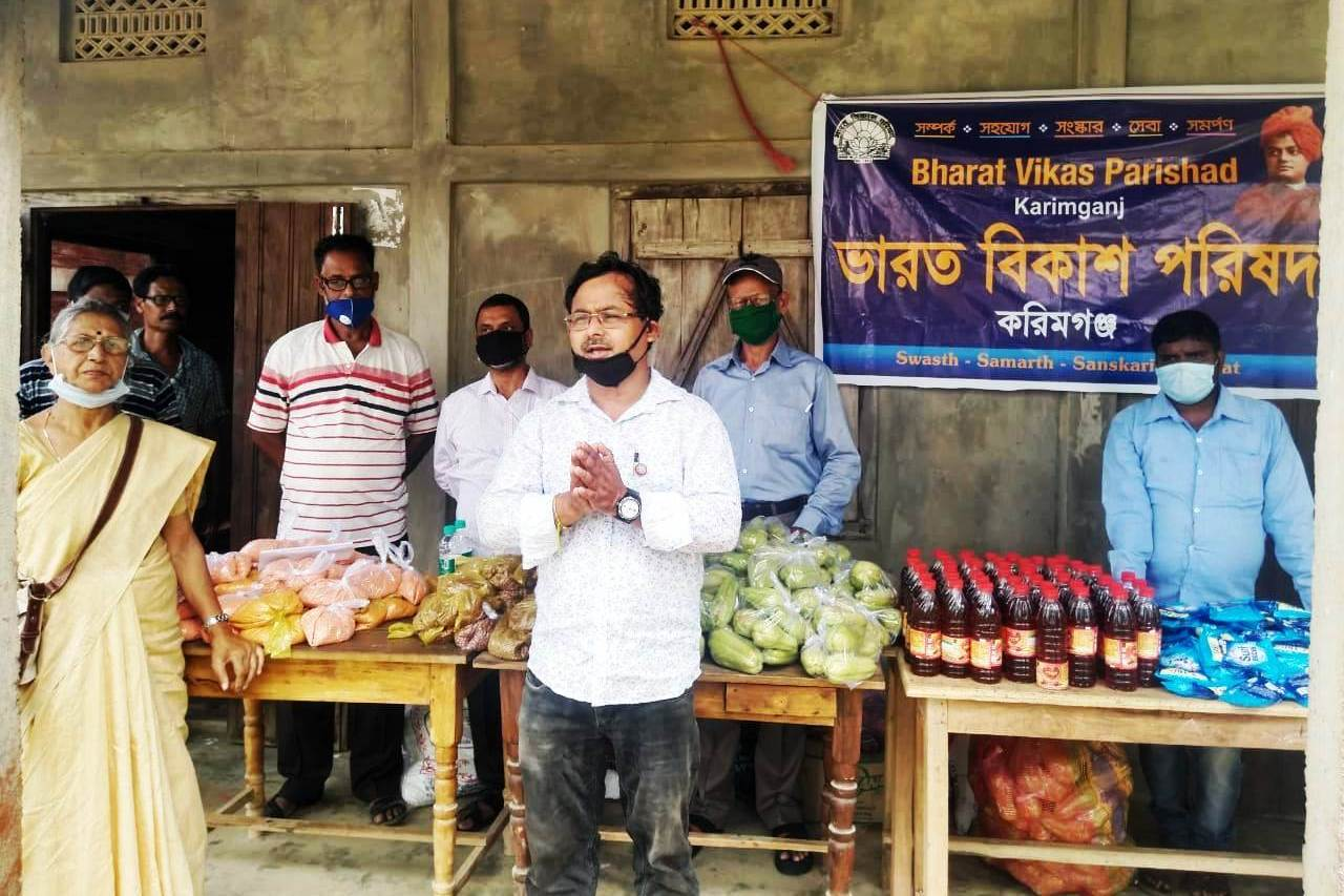 Essential commodities distributed in Bazrghat