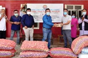 Parishad organises distribution of relief maters to villagers