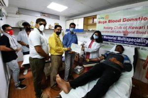 विश्व रक्तदाता दिवस पर में रक्तदान शिविर लगाया