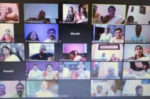 ऑनलाइन परिषद स्थापना दिवस मनाया