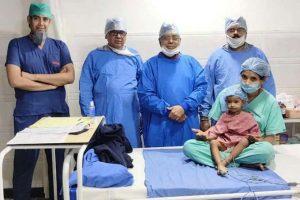 परिषद चिकित्सालय ने अतिदुर्लभ ओपन हार्ट सर्जरी कर बचाई दो साल की बच्ची की जान