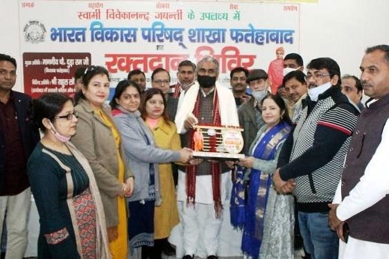 स्वामी विवेकानंद की जयंती के उपलक्ष्य में रक्तदान शिविर आयोजित