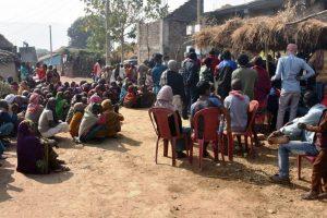 7 गांवों में सैंकड़ों ग्रामीण परिवारों का रक्त पहचान एवं कंबल तथा खाद्यान्न वितरण