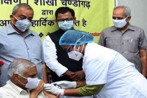 परिषद ने चंडीगढ़  में वैक्सीनेशन कैंप लगाया गया