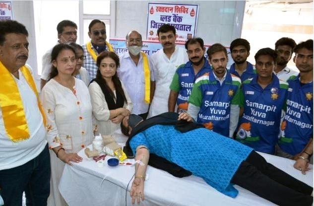 स्थापना दिवस पर 15 शाखाओं के साथ रक्तदान शिविर – 119 लोगों ने रक्तदान किया